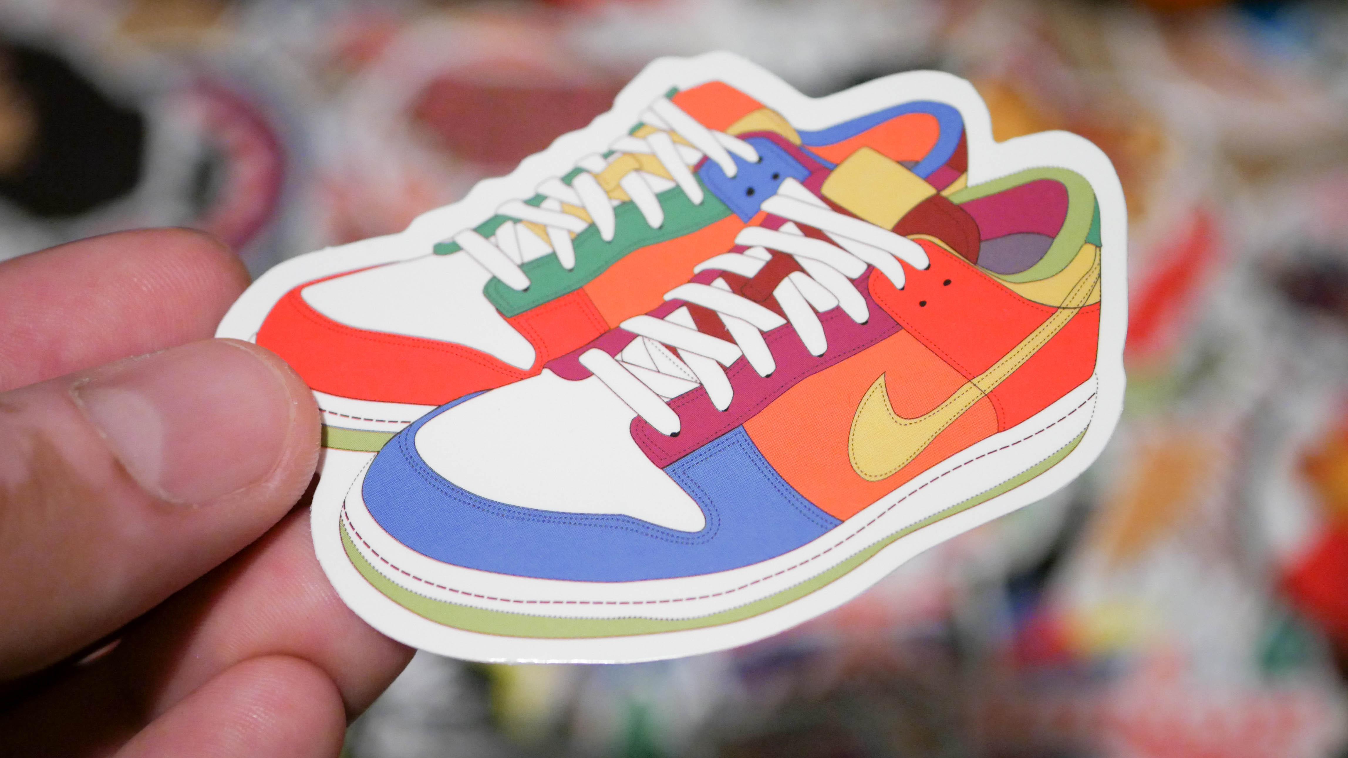Aufkleber sneaker