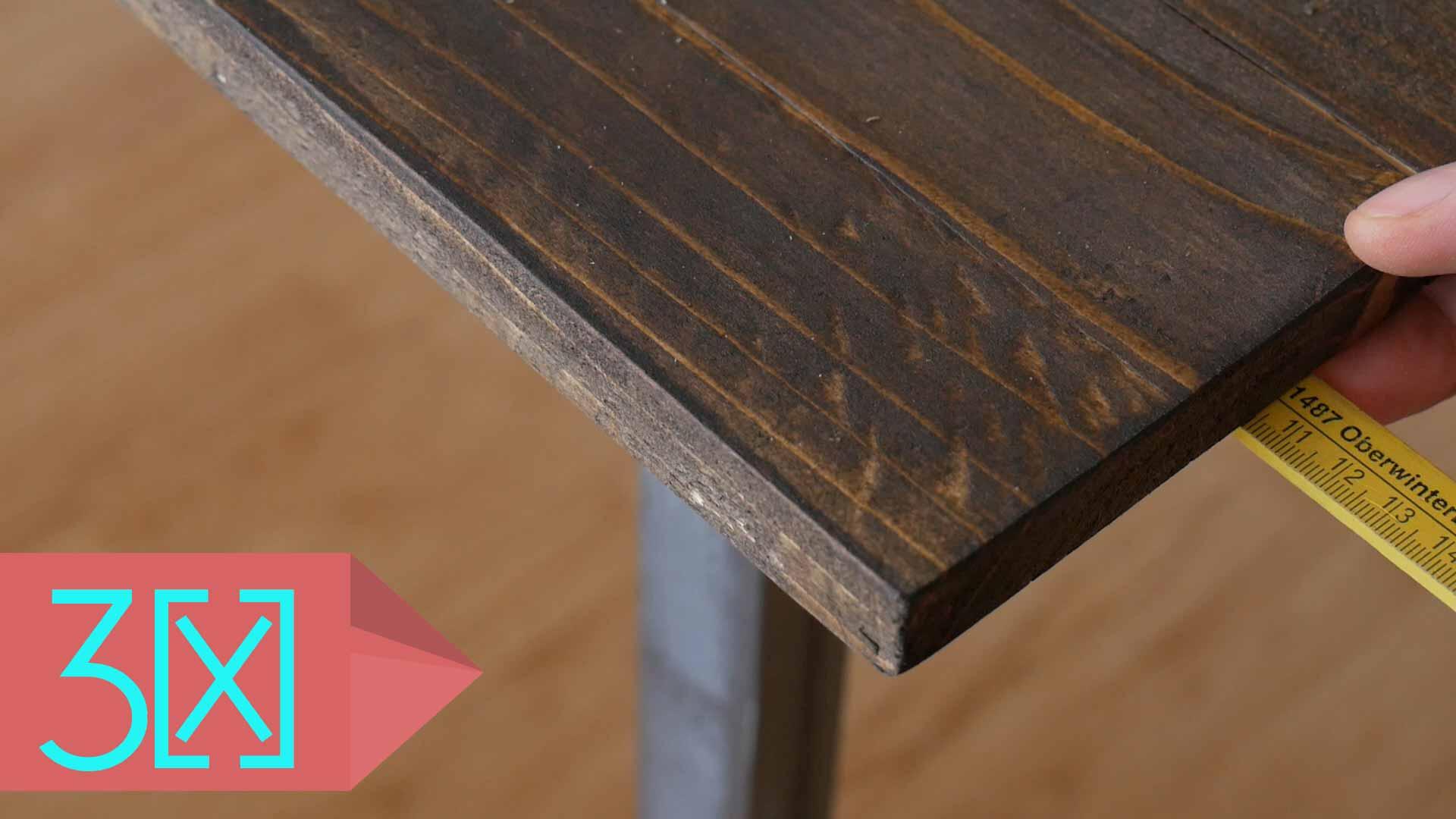 Tischplatte korrekt ausrichten