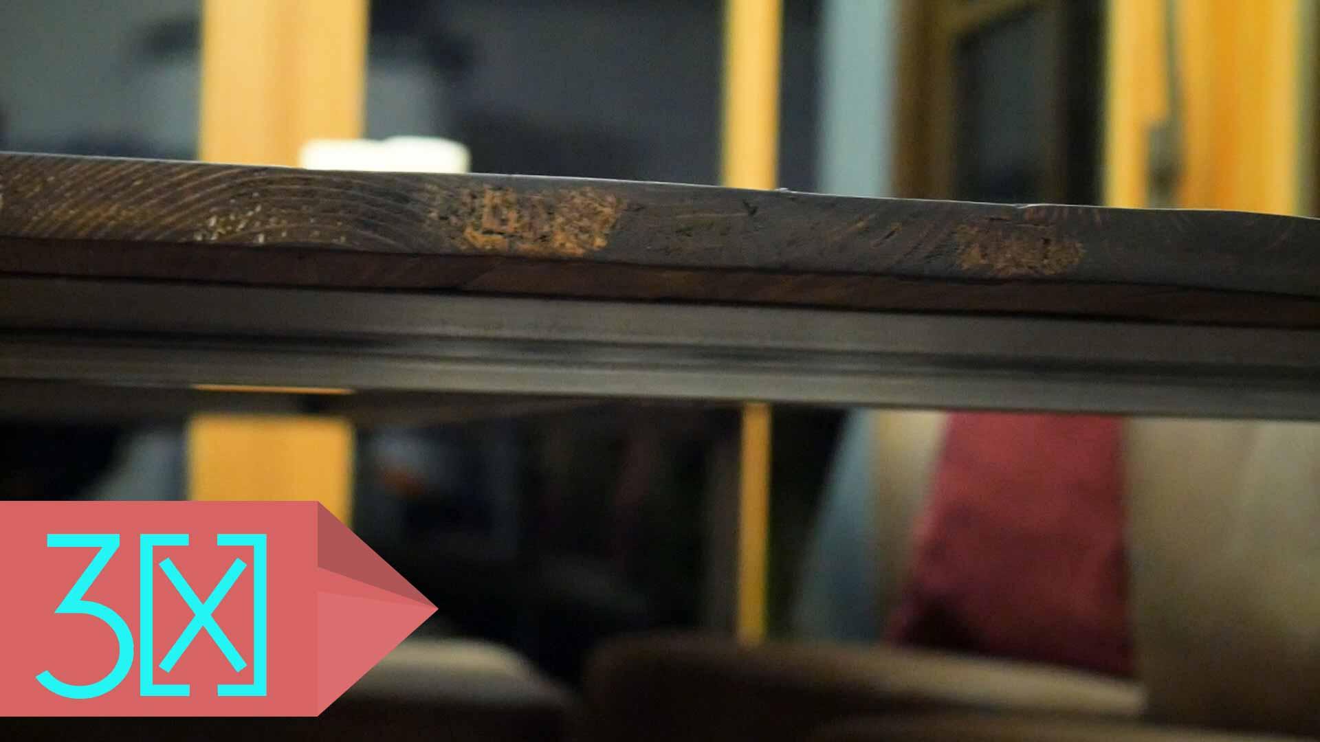 Untergestell und Tischplatte