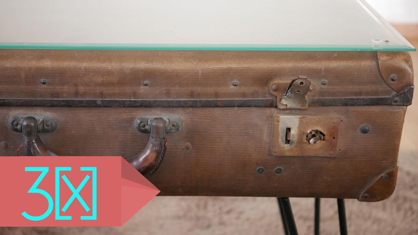 so verwandelt ihr einen alten koffer in einen antiken couchtisch
