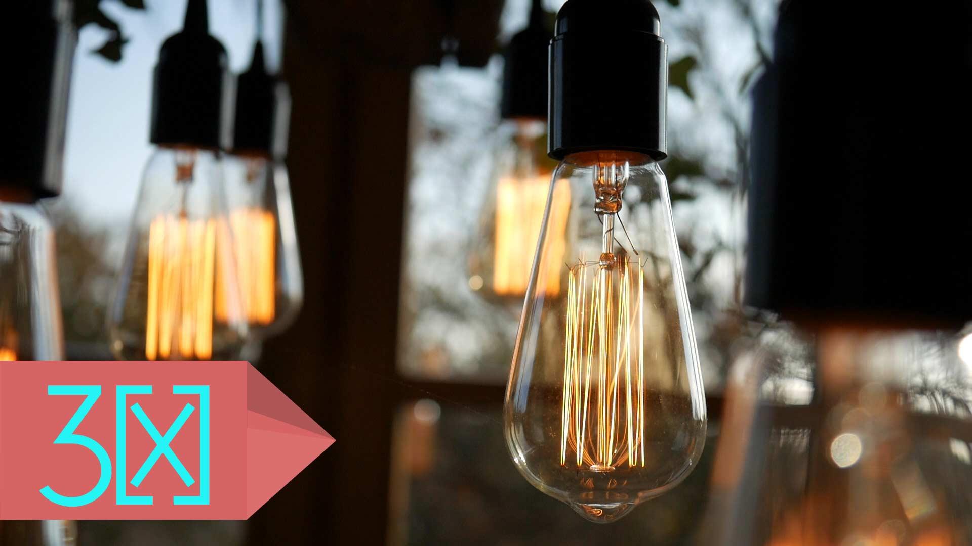 Glühbirnen Palettenlampe