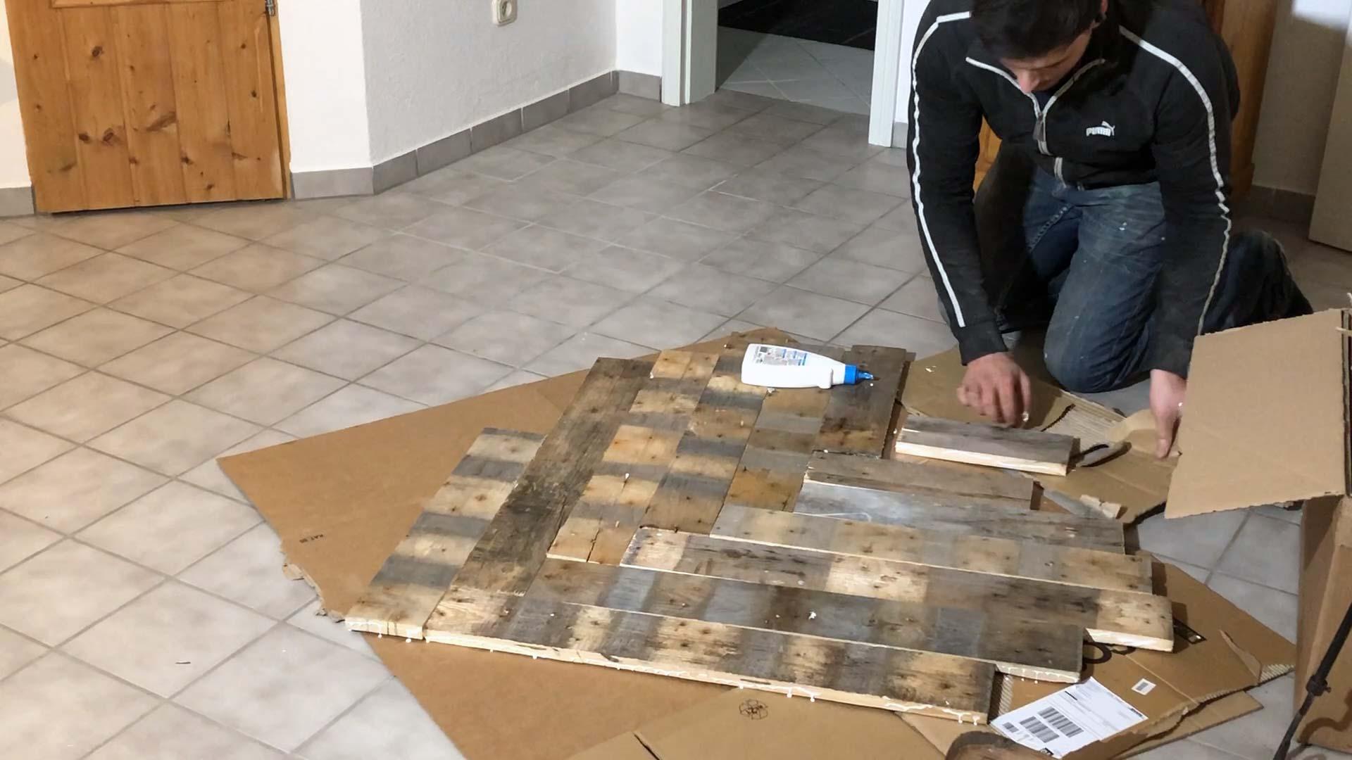 Holzplatte verleimen