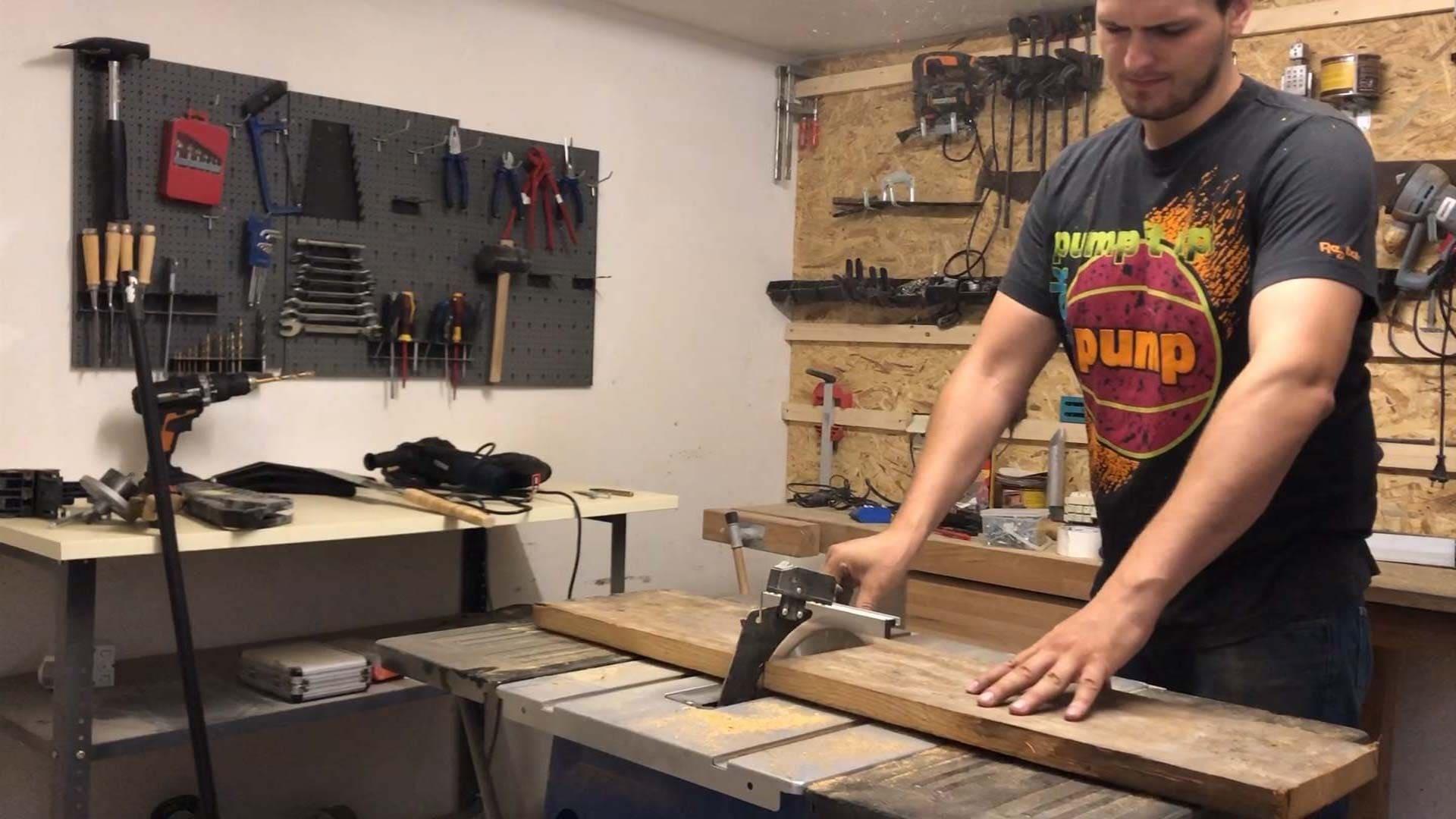 Holzdiele zuschneiden