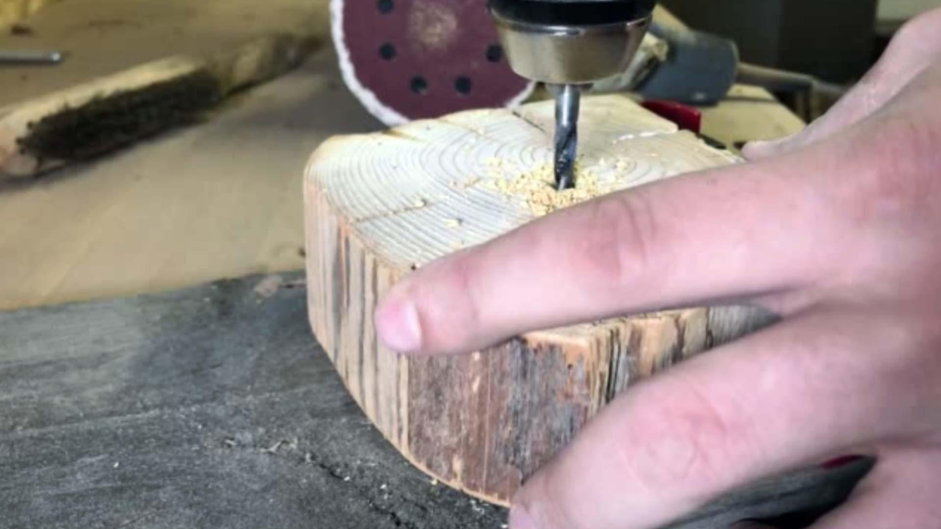 Bohrung Holzbalken